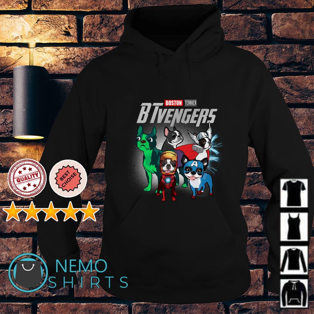 Marvel Avengers Boston Terrier BTvengers Hoodie