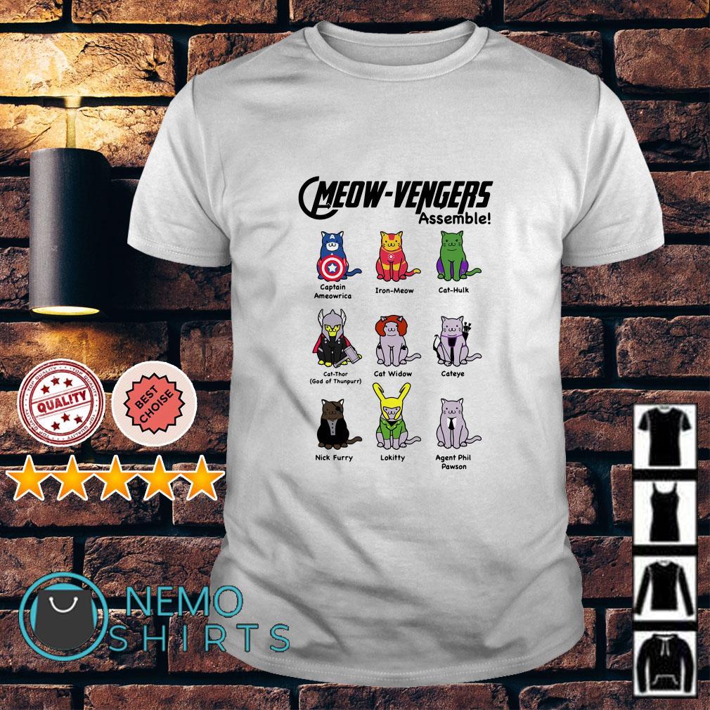 Marvel Avengers Cats Cmeowvengers assemble shirt