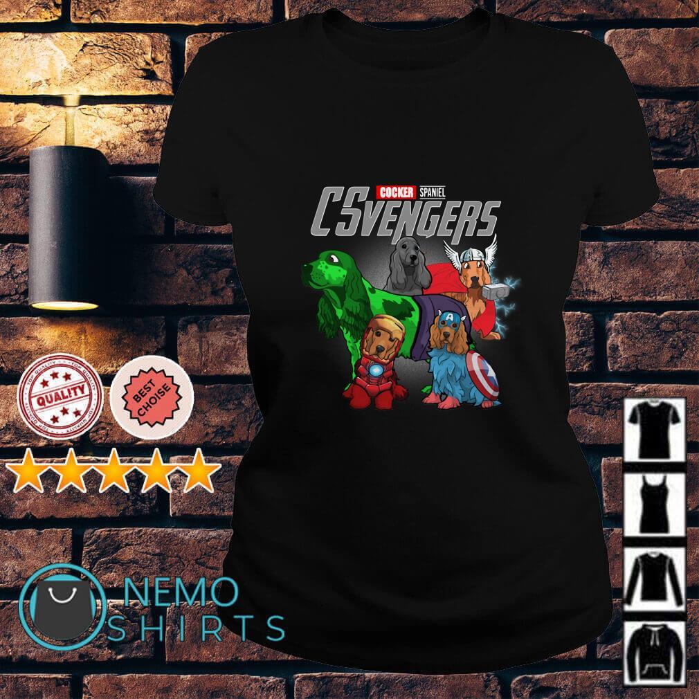 Marvel Avengers Cocker Spaniel CSvengers Ladies tee