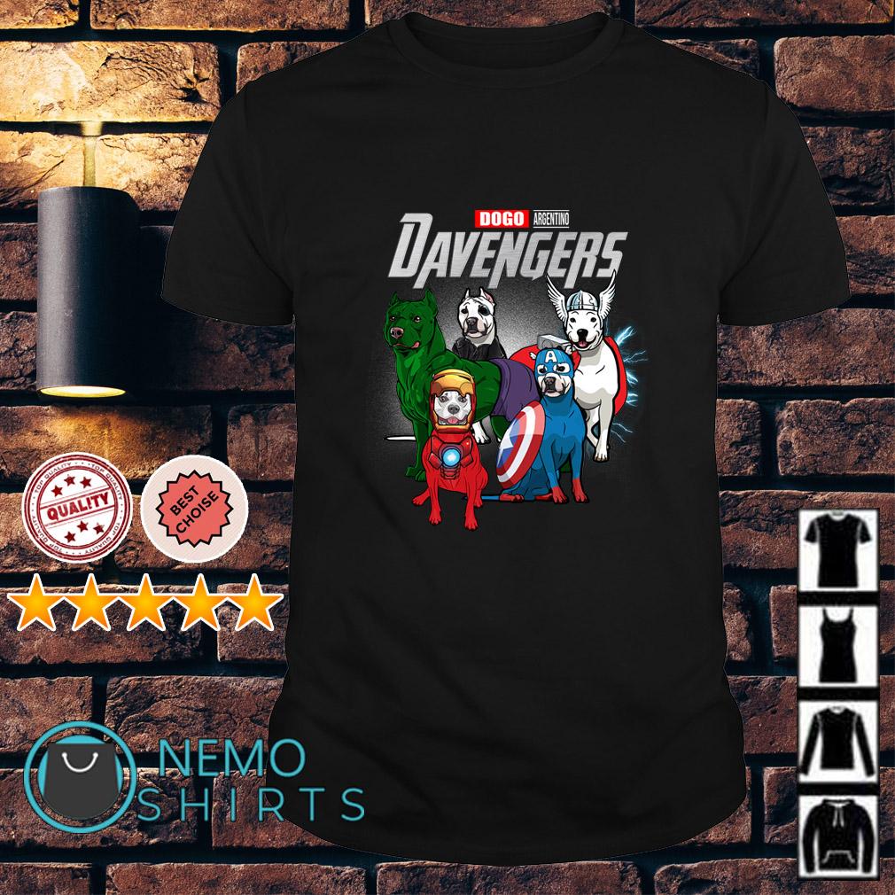 Marvel Avengers Dogo Argentino DAvengers shirt