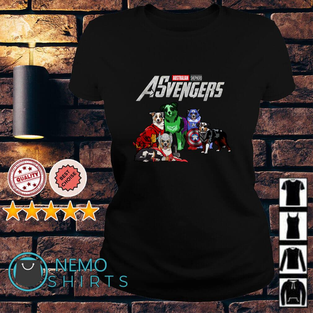 Marvel Avengers Endgame Australian Shepherd ASvengers Ladies teeMarvel Avengers Endgame Australian Shepherd ASvengers Ladies tee