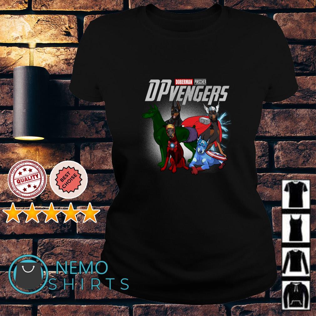 Marvel Avengers Doberman Pinscher DPvengers Ladies tee