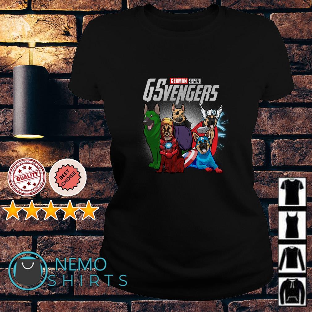 Marvel Avengers German Shepherd GSvengers Ladies tee