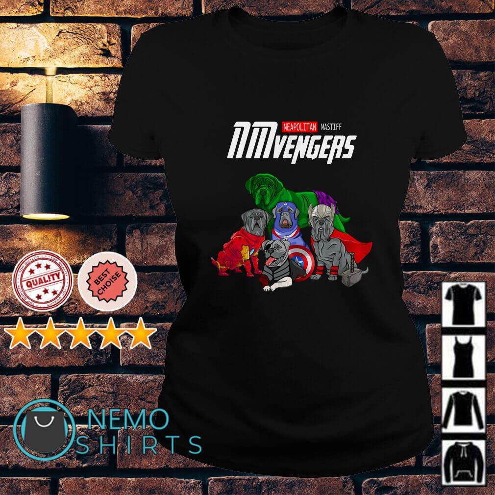 Marvel Avengers Neapolitan Mastiff NMvengers Ladies tee