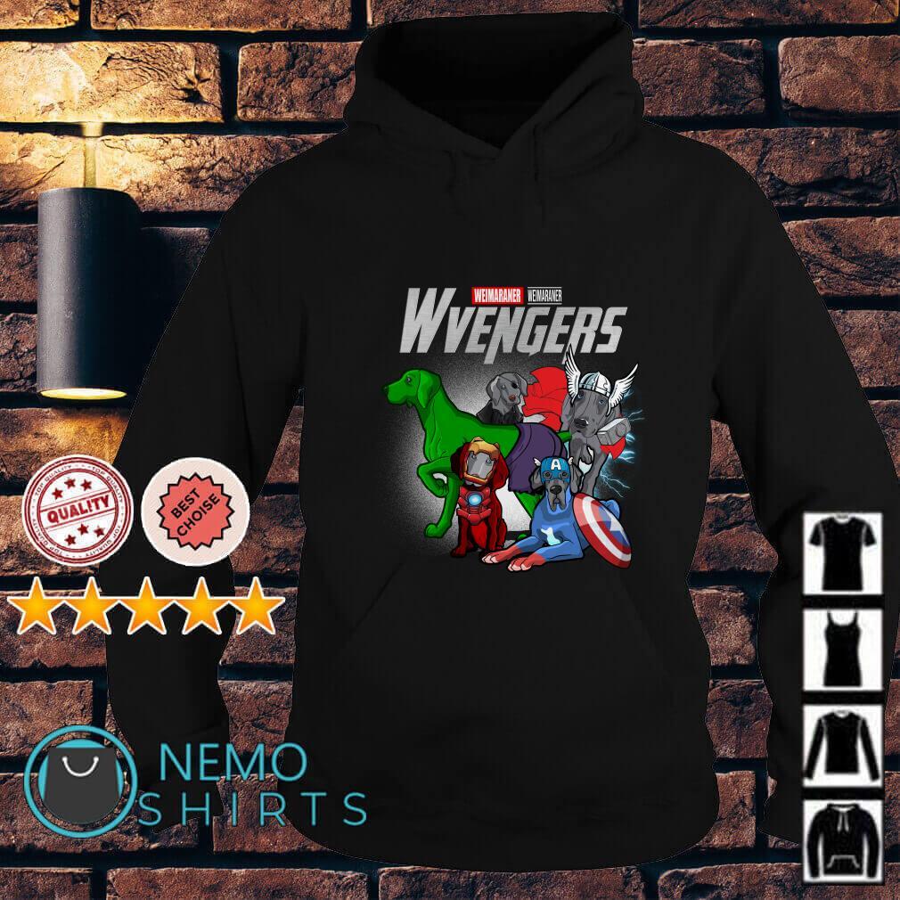 Marvel Avengers Weimaraner Wvengers Hoodie