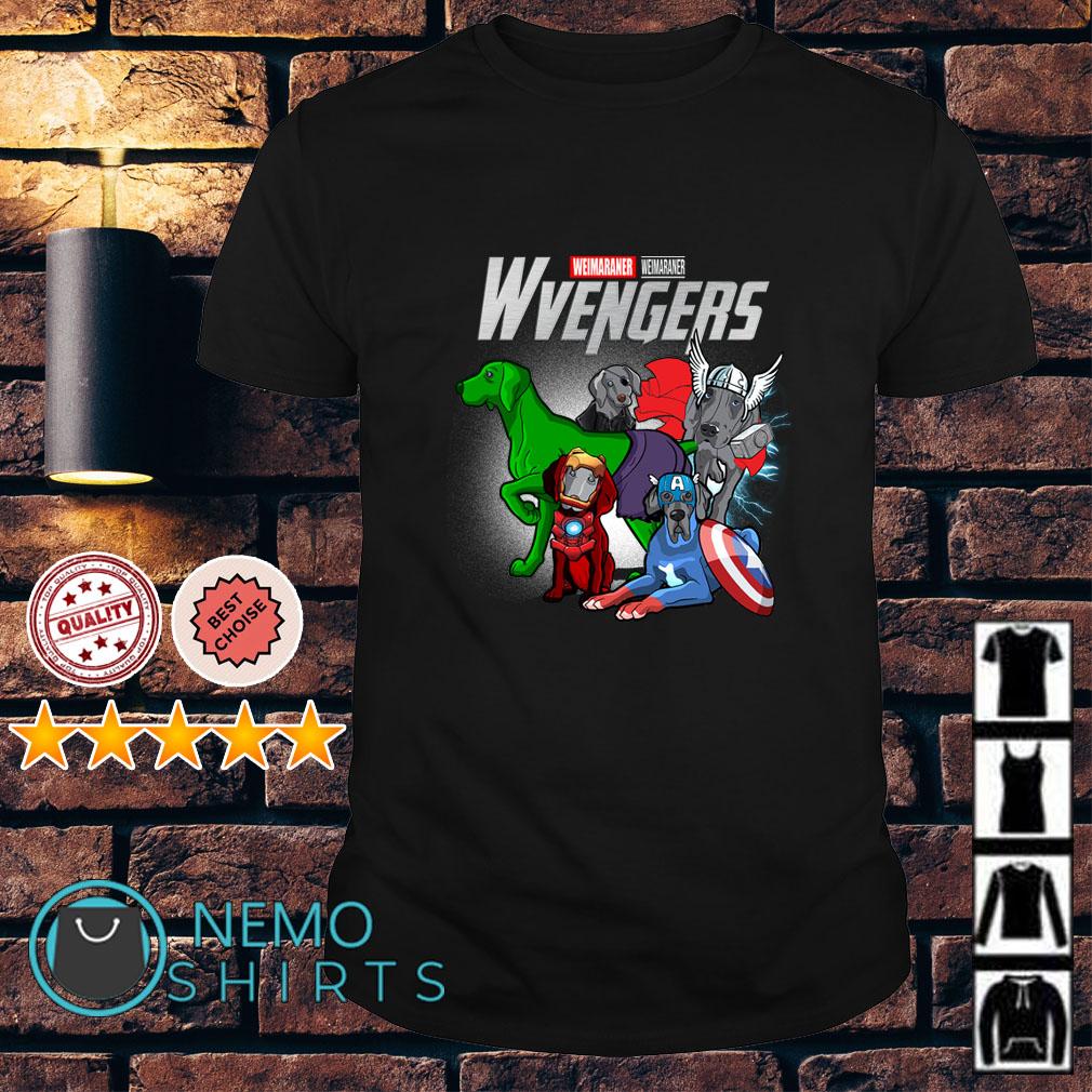 Marvel Avengers Weimaraner Wvengers shirt