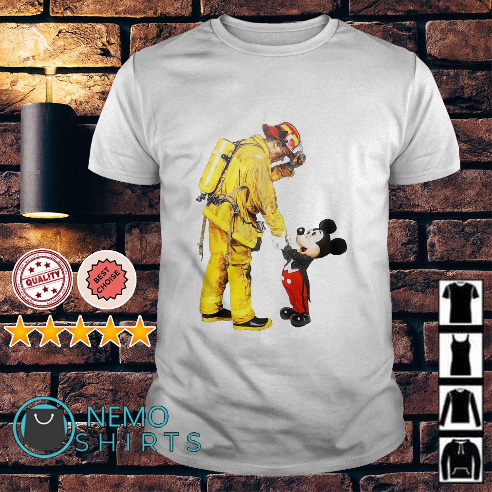 Mickey Mouse thank you so much Fireman shirt