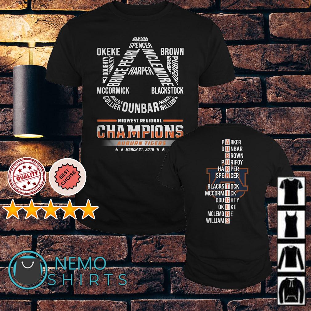 Midwest regional champions Auburn Tigers March 31 2019 shirt