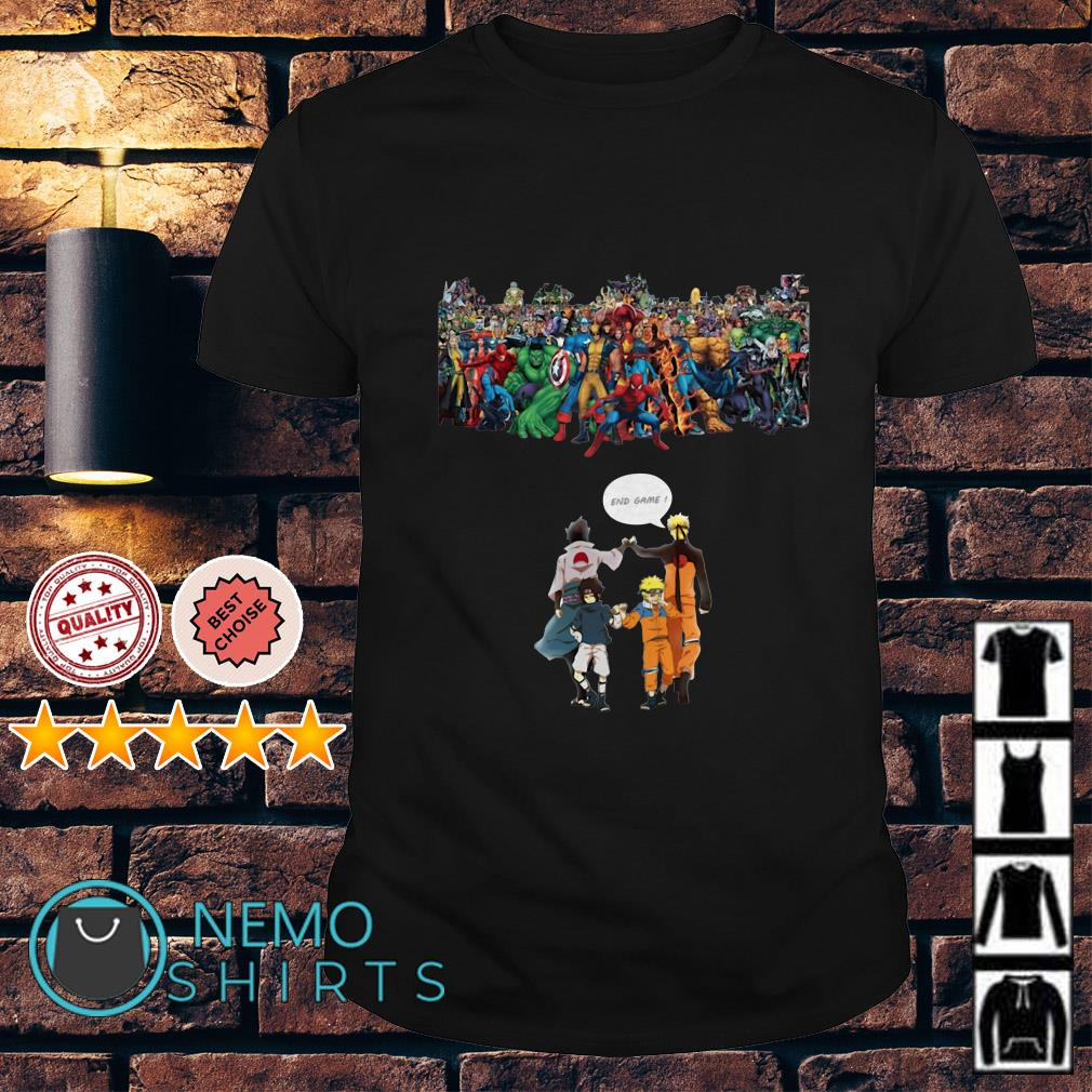 Naruto And Sasuke Avenger Endgame Marvel Superheroes shirt