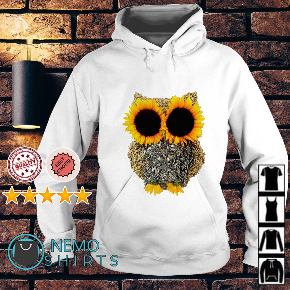 Owl Made Of Sunflower Seeds Hoodie
