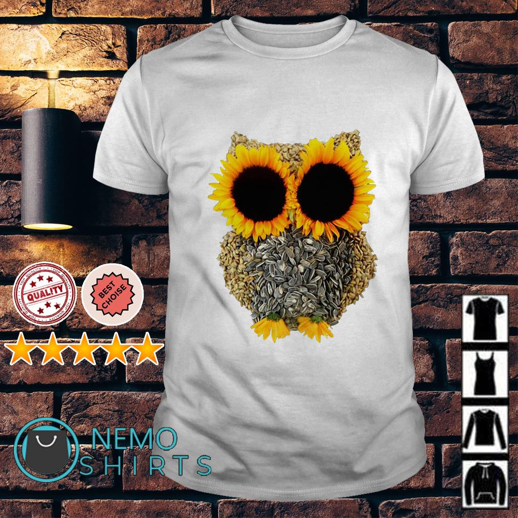 Owl Made Of Sunflower Seeds shirt