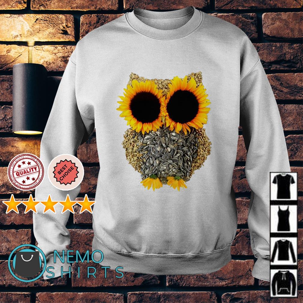 Owl Made Of Sunflower Seeds Sweater