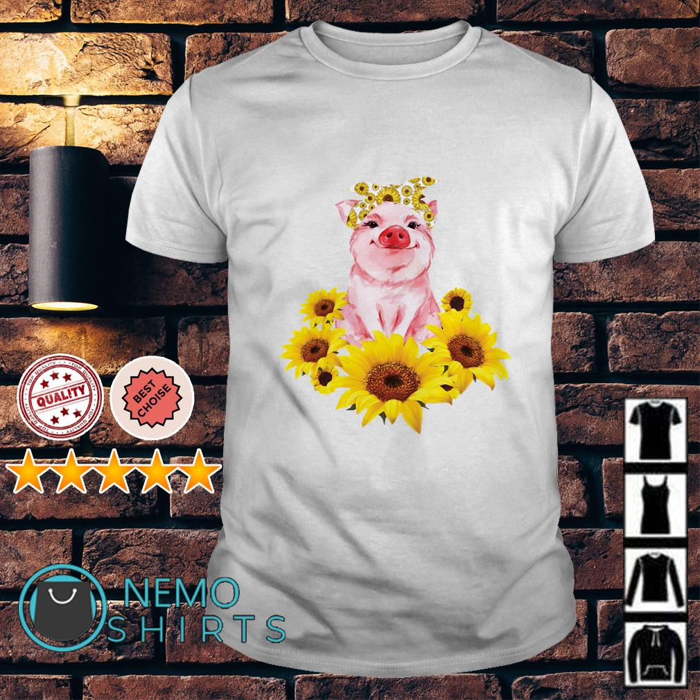 Pig lady sunflower shirt
