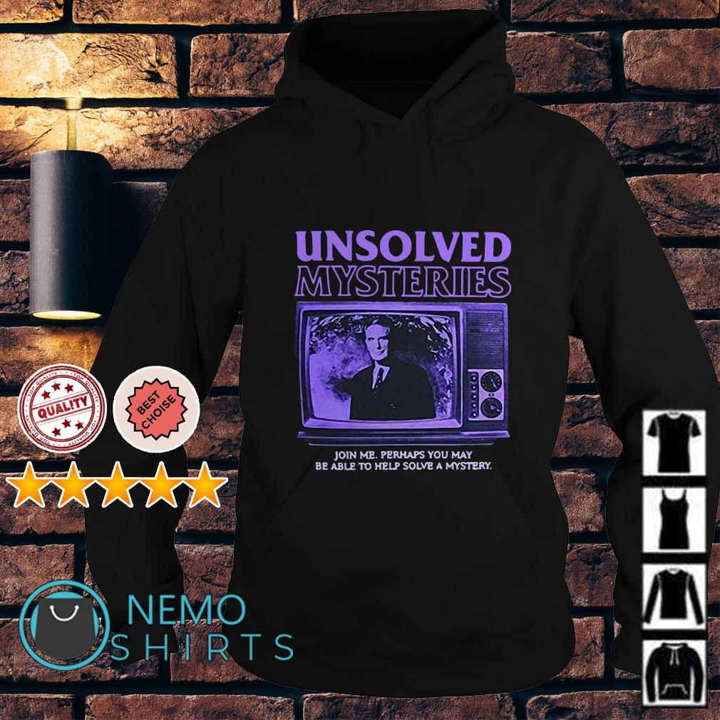 Robert Stack Unsolved mysteries john me perhaps you may be able Hoodie