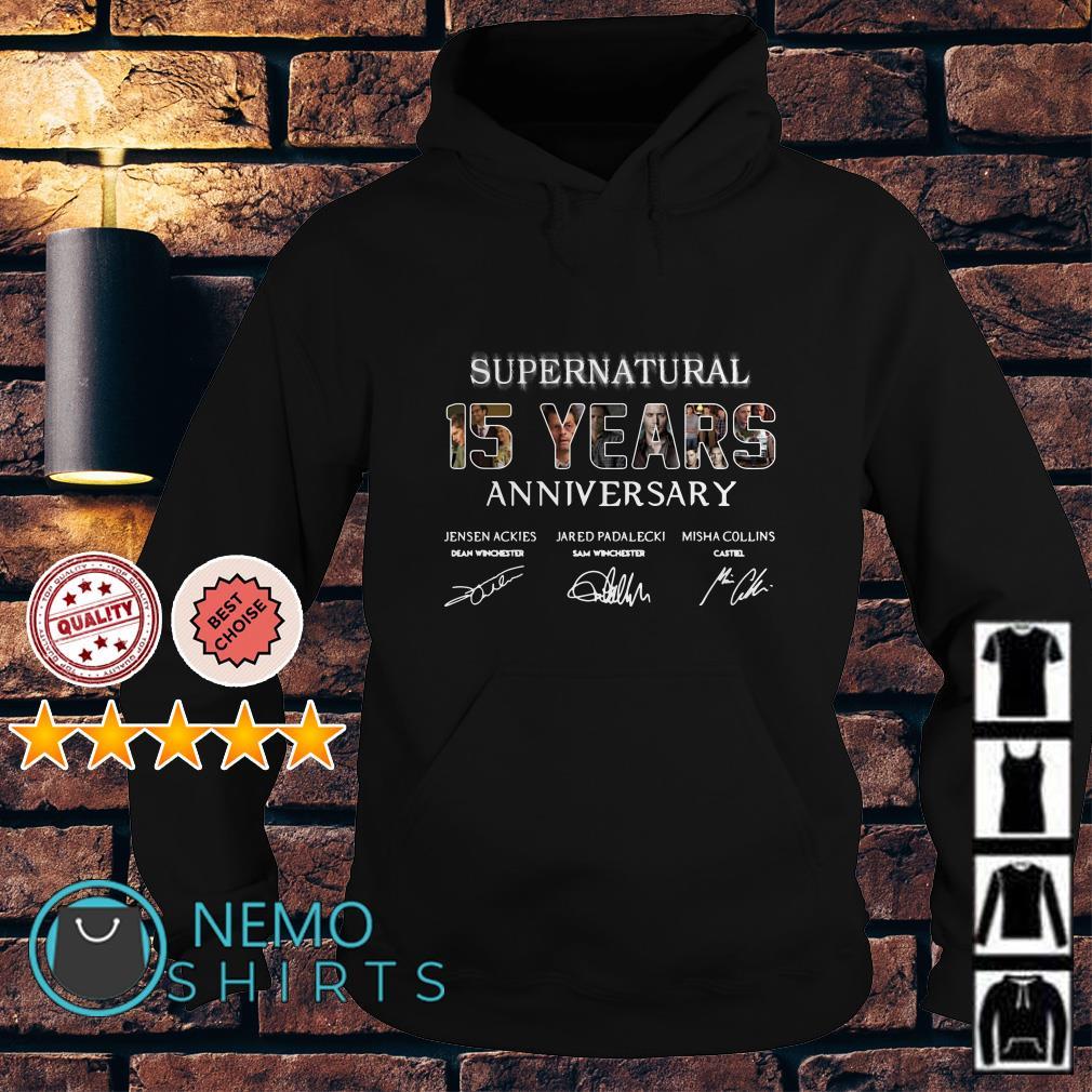 Supernatural 15 Years Anniversary all signatures Hoodie
