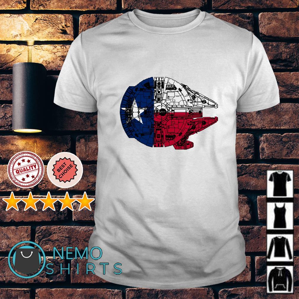 Texas Flag and the Millennium Falcon shirt