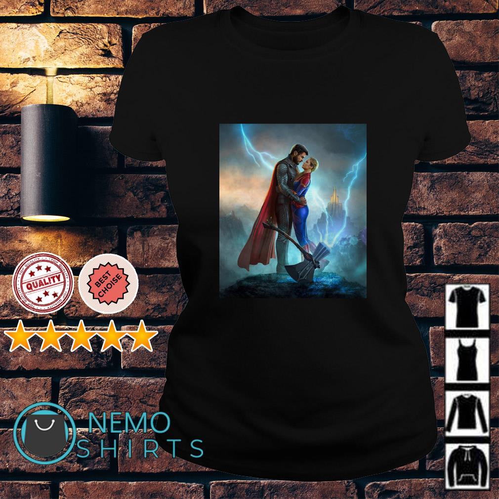 Thor love Captain Marvel Avengers Endgame Ladies tee
