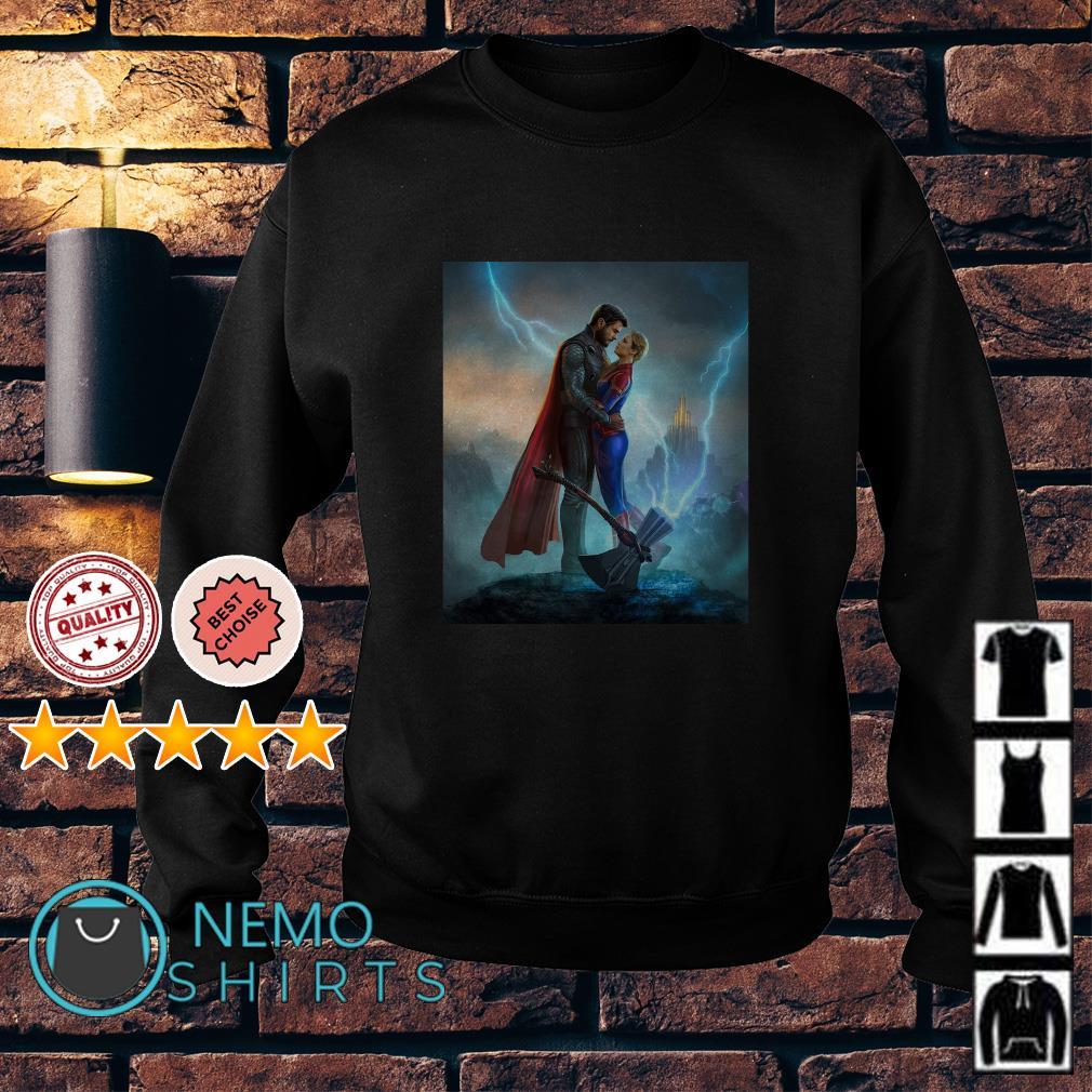 Thor love Captain Marvel Avengers Endgame Sweater