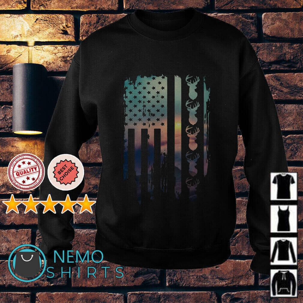 Vintage American Flag hunting Lover Sweater