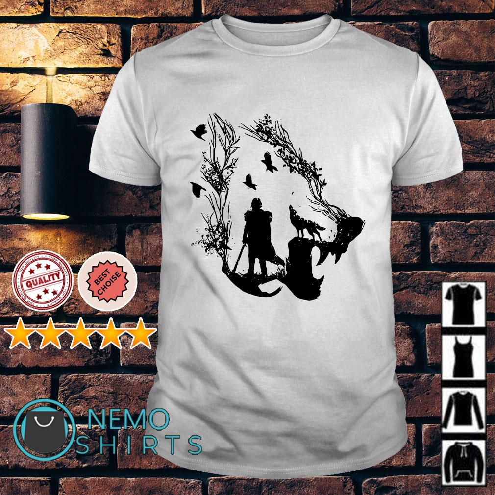 Wolf Inspired Jon Snow Game Of Thrones shirt