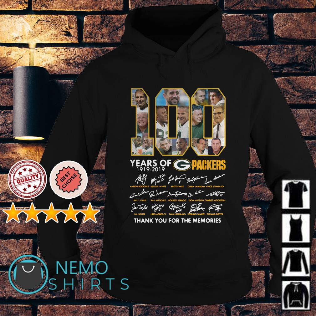 100 years of Packers thank you for the memories signature Hoodie
