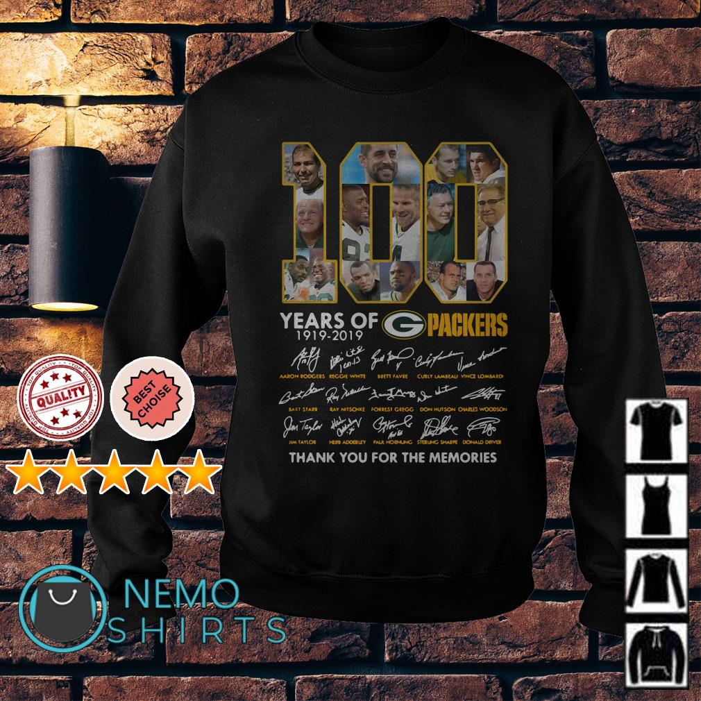 100 years of Packers thank you for the memories signature Sweater