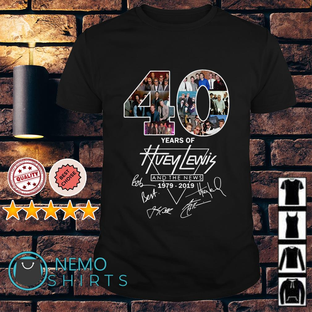 40 years of Huey Lewis and the news 1979 2019 shirt