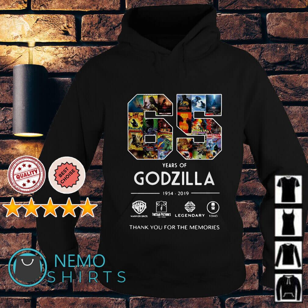 65 years of Godzilla 1954 2019 thank you for the memories Hoodie