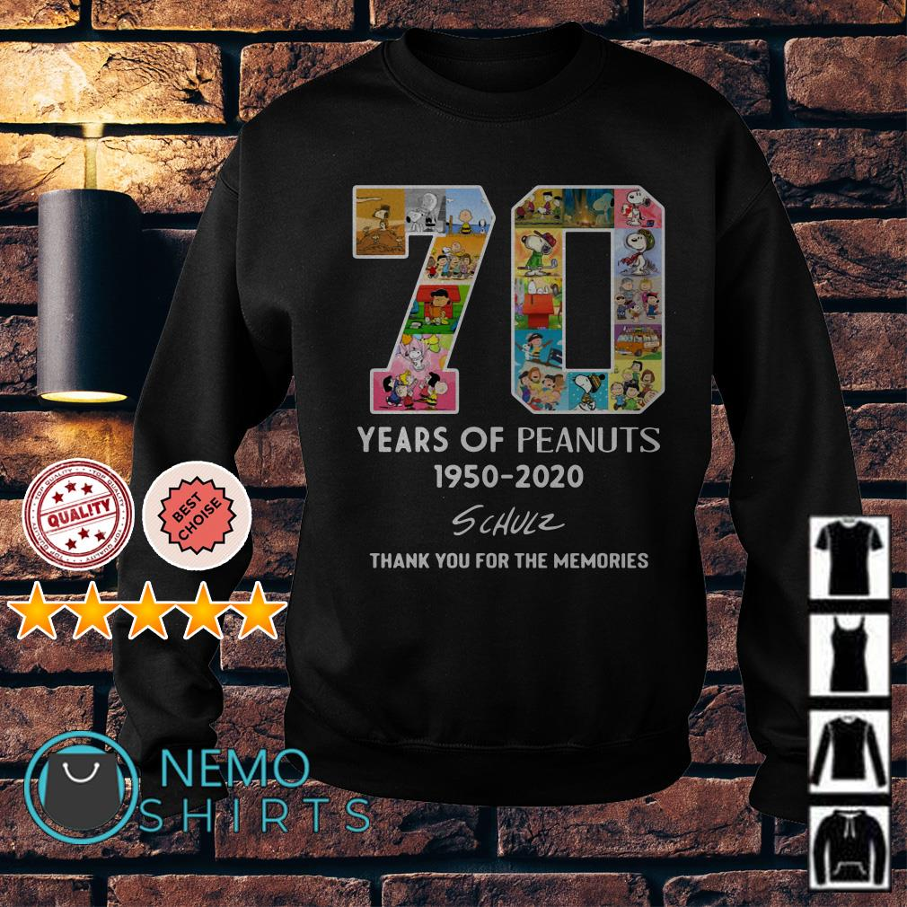 70 years of Peanuts 1950 2020 thank you for the memories Sweater