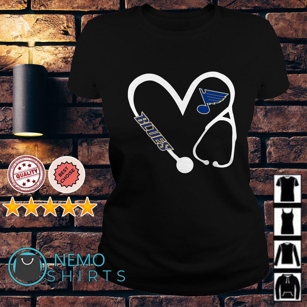 Nurse love St. Louis Blues Ladies Tee