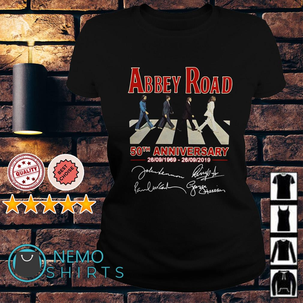 Abbey Road 50th anniversary 1969 2019 Ladies tee