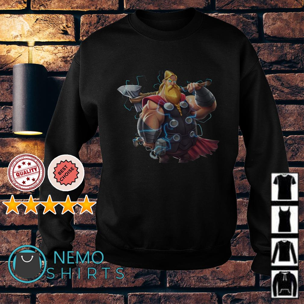 Avenger Endgame Fat Thor and Double Hammer Sweater