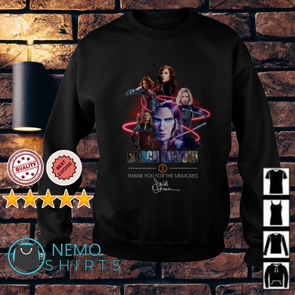 Avengers Black Widow thank you for the memories Sweater