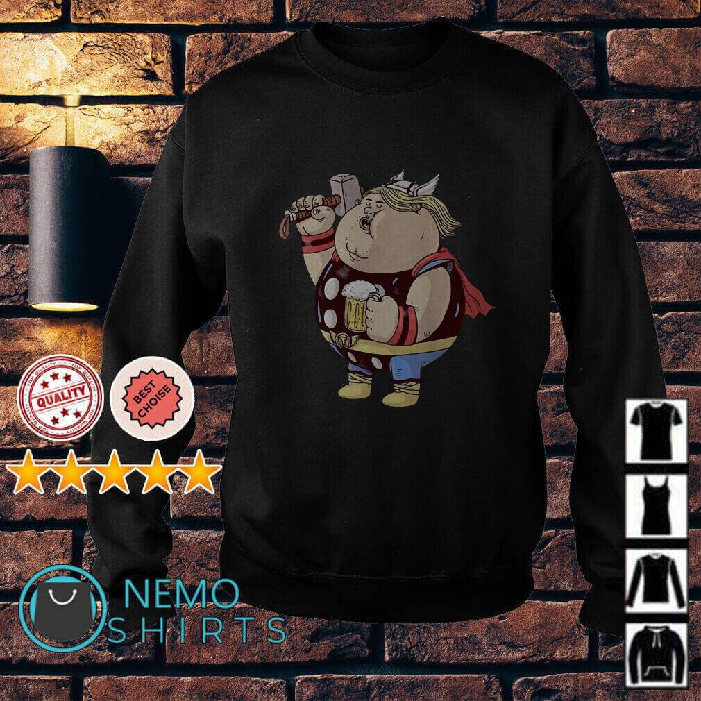 Avengers Endgame fat Thor and beer Sweater