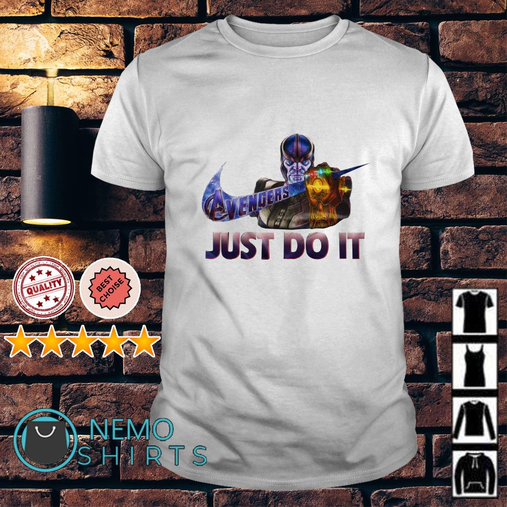 Avengers Endgame Thanos just do it nike shirt