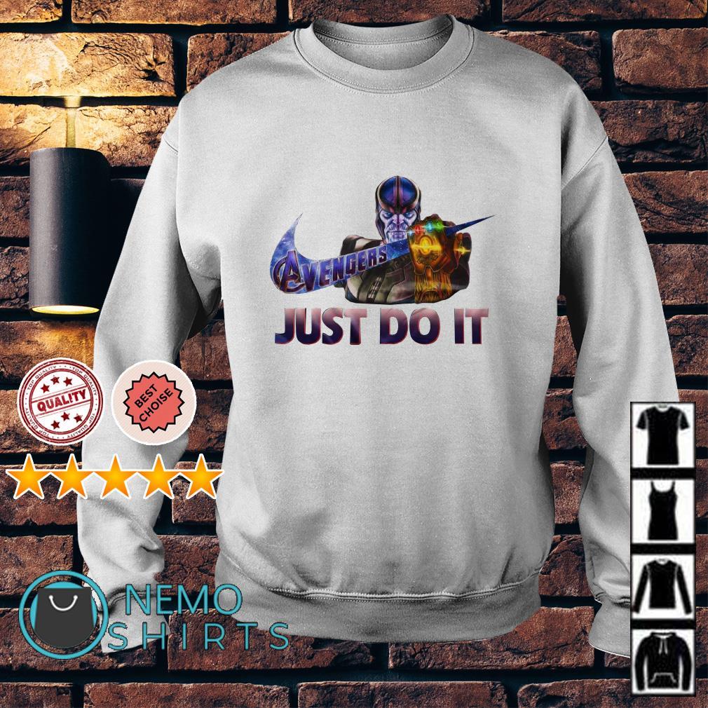 Avengers Endgame Thanos just do it nike Sweater