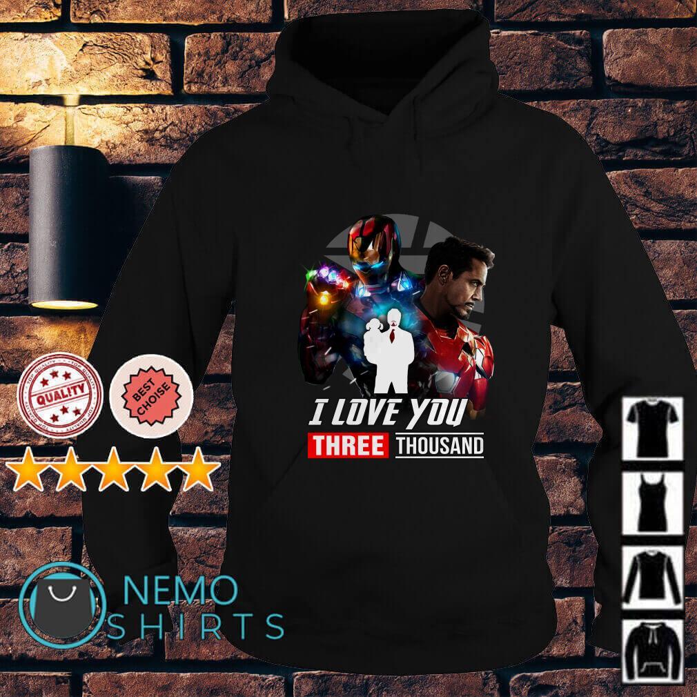 Avengers Endgame Tony Stark and Morgan Stark I love you 3000 Hoodie