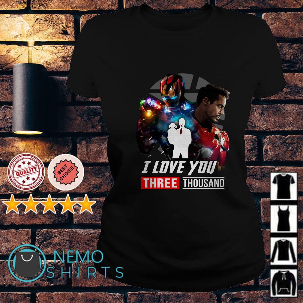 Avengers Endgame Tony Stark and Morgan Stark I love you 3000 Ladies tee