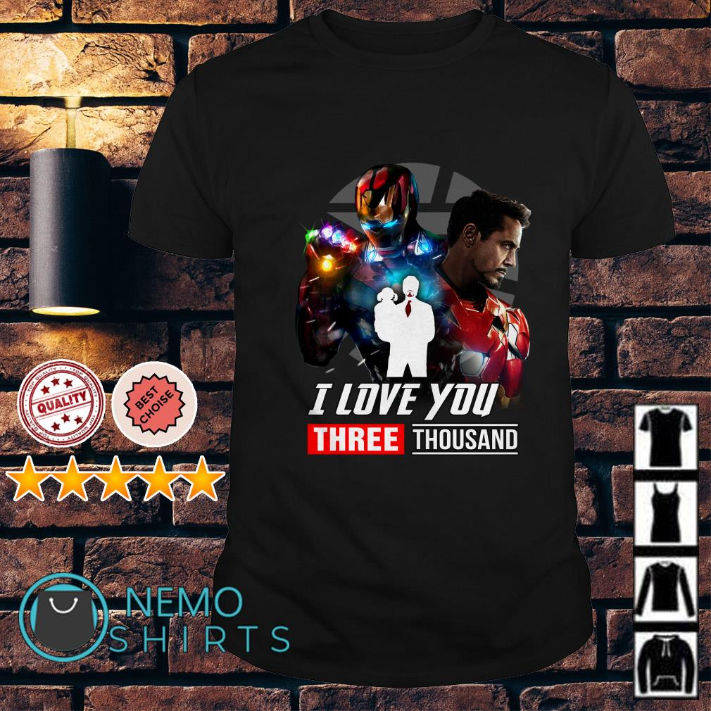 Avengers Endgame Tony Stark and Morgan Stark I love you 3000 shirt