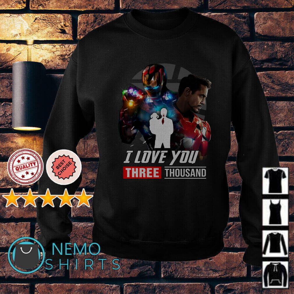 Avengers Endgame Tony Stark and Morgan Stark I love you 3000 Sweater
