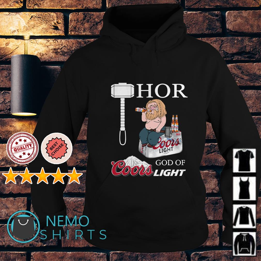 Avengers fat Thor God of Coors Light Hoodie