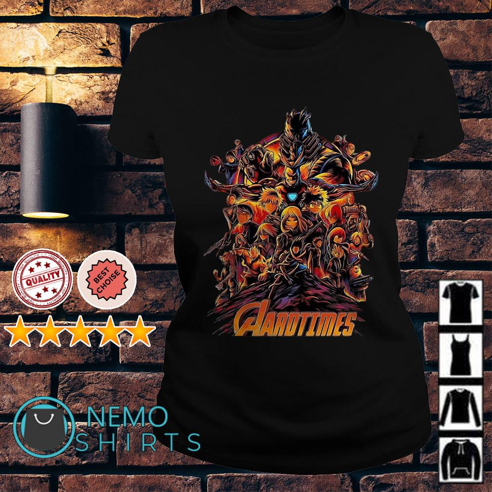 Avengers My Hero Academia Aarotimes Ladies Tee