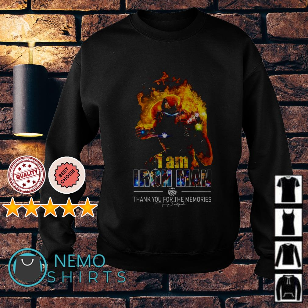 Avengers I am Iron Man thank you for the memories Sweater