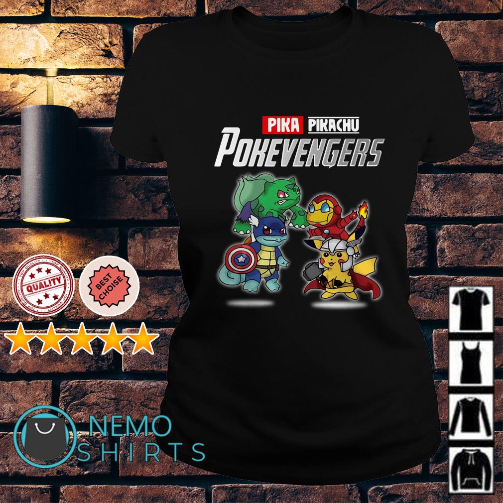 Avengers Pikachu Pokevengers Ladies tee