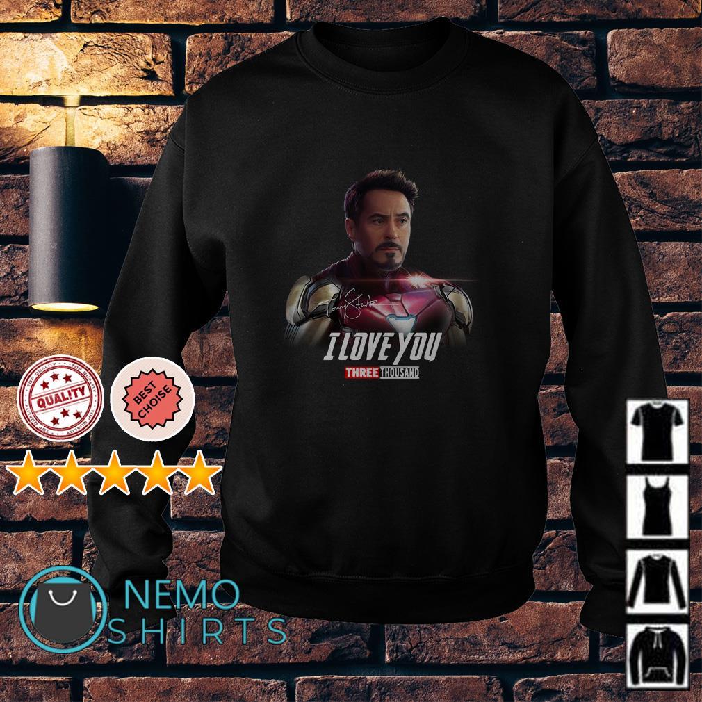 Avengers Tony Stark I love you three thousand signature Sweater