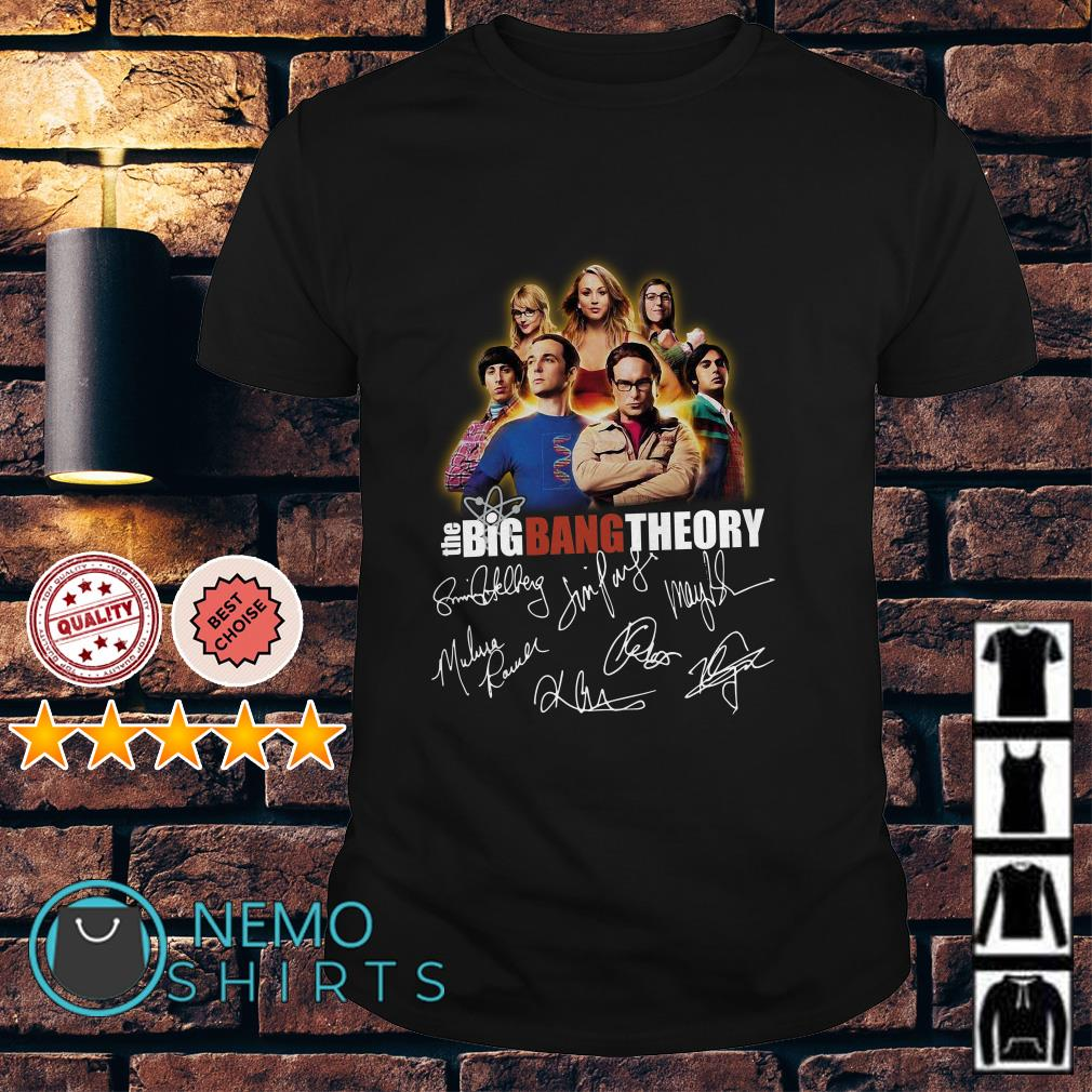 The Big Bang theory signature shirt