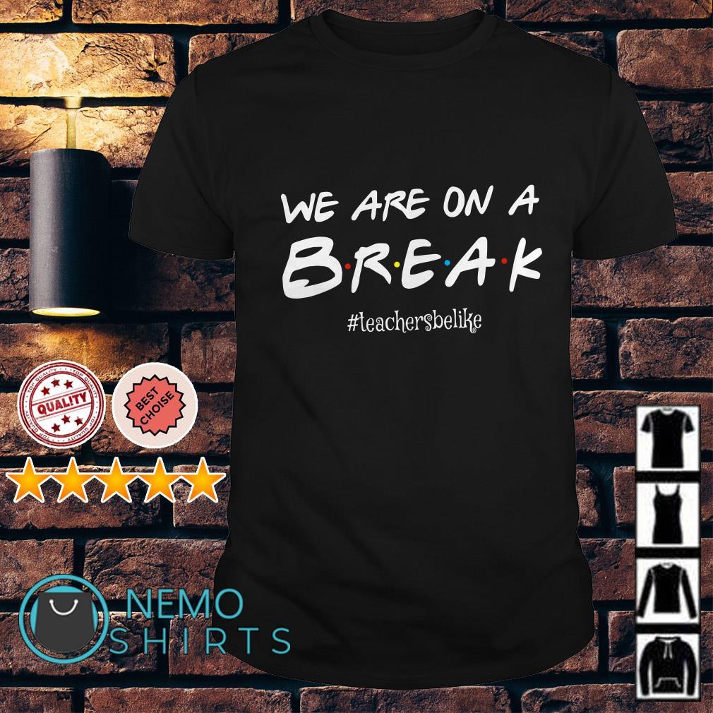 We are on a break teacher be like shirt