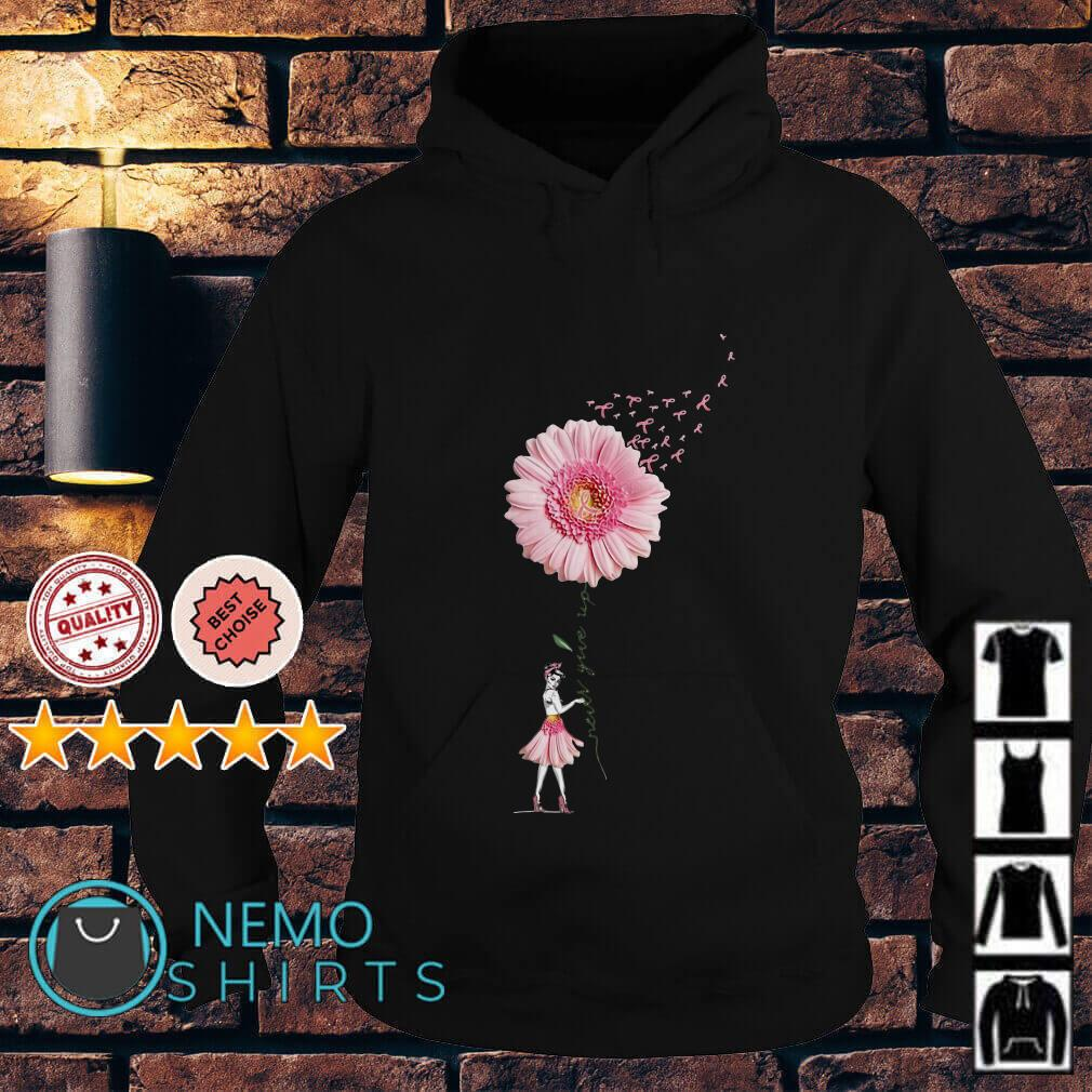 Breast Cancer Sunflower never give up Hoodie