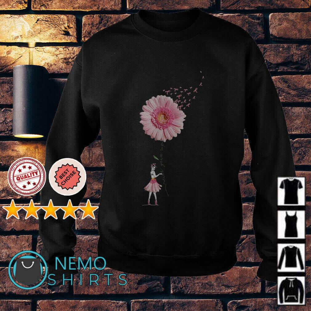 Breast Cancer Sunflower never give up Sweater