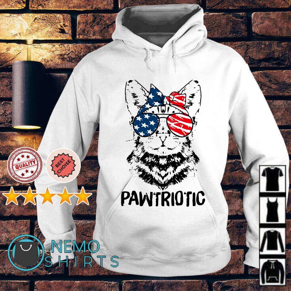 Cat pawtriotic American flag Independence Day Hoodie
